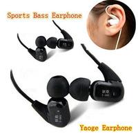 High Quality YAOGE Y-066 in ear earphone sports earphones sound insulation earplugs mobile phone mp3 earphones free shipping