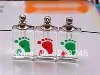 Freeshipping!!Nice Red feet perfume pendant vial necklace pendant small mini rice glass bottle pendant Screw cap