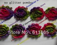 Free CPAM 10styles shabby chiffon print wedding dress flower lace trimming, chiffon rose baby/kid hair accessories,30y/lot