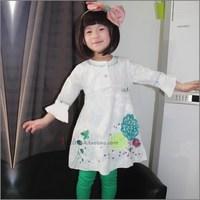 free shipping catimini Chiddler boy elegant three quarter sleeve spring and autumn one-piece dress princess dress