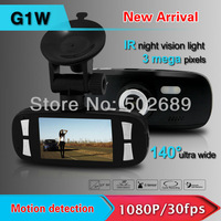 "Original Car Video Recorder G1W GS108 with Novatek 96650 + WDR Technology + 1080P 30FPS + G-Sensor + 2.7"" LCD FreeShipping!"