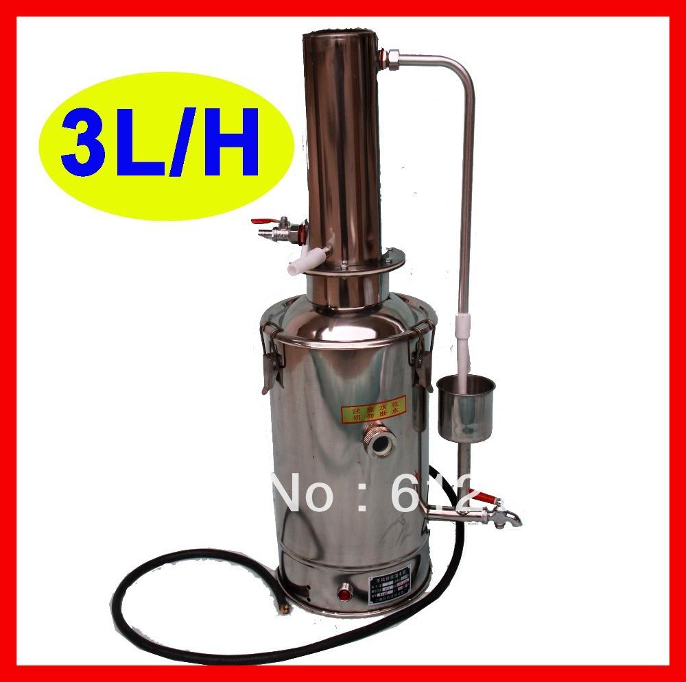 3l h rvs water distilleerder gedestilleerd waterzuiveraar machine voor thuis gebruik in het lab - Voor thuis ...