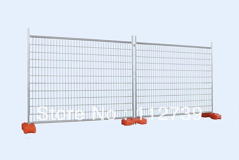 Temporary Fence Panel + Round Fence Post + Feet Base(China (Mainland))