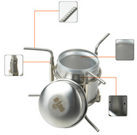 Camping Stove Out-D Stainless Steel Alcohol Stove 247g B-1