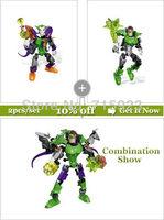 2X Freeshipping Decool  3D Super Hero Factory Joker,Green Lantern building blocks kids robot toys