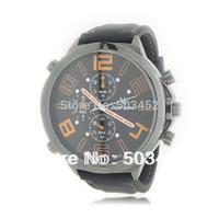 100pcs/lot V6 Racing Watch Big Round Dial Quartz Men Business Casual Watch V6 Super Speed Black Color Dress Wristwatch