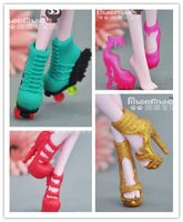 Free Shipping 2014 New Arrival 4pairs/lot Genuine Monster High Shoes Original Monster High 4 Styles Beautiful High Heels