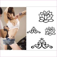 Tattoo stickers waterproof Women 38 lotus