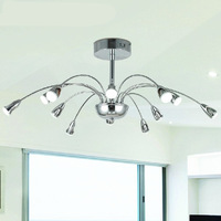 Free shipping modern brief led chandelier, D760*H400mm chrome/red indoor lamp