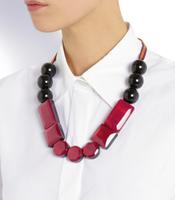 Fashion brief marni bead luxury big gem mirror quality lacing necklace