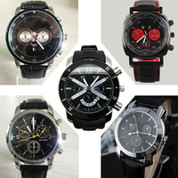 leather strap mens watches top brand luxury relojes fashion watch new 2014