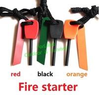 Outdoor Survival Flint Fire Starter Lighter Magnesium Striker 3colors 2pcs
