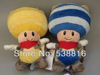 2pcs/lot bat Good Quality Super Mario Bros Mushroom People Plush Toys Dolls+free shipping