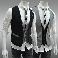 Free Shipping Spring 2014 Mens Jackets And Coats Fashion Color Block Winter Dress Sleeveless Casual Outdoor Mens Suit Vest