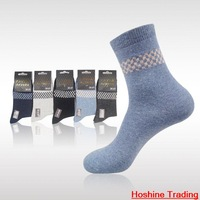 freeshipping 2014 New Men's Middle Tube Sock  Prints Wool Socks Men Winter Warm Thick Elite Socks Wholesale factory wholesale