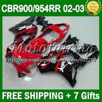 7gifts For 02-03 HONDA CBR954RR red black CBR900RR 954 954RR 2002 2003 CL6779 CBR 900RR 02 03 CBR954 RR Factory red HOT Fairings
