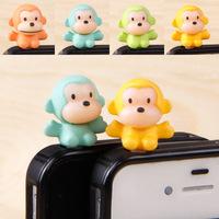 3.5mm cute animal big month monkey Moblie Phone  Cell Phone Dust Plug Earphone Jack Plug accessories