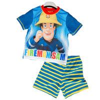 2014 children's clothing boy summer 100% cotton short-sleeve set fireman sam SET boy cloth FREE SHIPPING