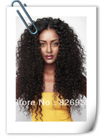 Afro Kinky Curl 100% Real Brazilian Human Hair Lace Front Wig, 130%-150% Density All Length IN STOCK