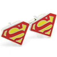 Two Tone Superman Cufflinks AT2297