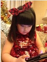 (5 pieces/lot)wholesale 2014 New Child ladies plaid Christmas decoration hair accessory headband hair bands
