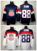 2014 Olympic 88 Patrick Kane USA Jersey Sochi Winter Team USA Ice Hockey Jersey American Patrick Kane Olympic Jersey Blue White