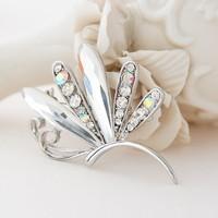Free shipping Chic women accessories hijab pins crystal dragonfly brooch Rhinestone Brooch BR012