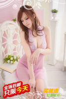 Sexy transparent sleepwear lace decoration milk pure open front long short skirt panties set