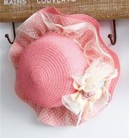 (5 pieces/lot)wholesale 2014 New Female child gentlewomen sunbonnet beach cap