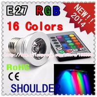 freeshipping spot light 3W4W e27 RGB LED Light Bulb 16 Color RGB Change 85-265V with IR Remote