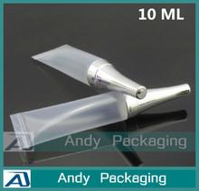 10 G sombra creme para os olhos tubo maquiagem plástico transparente Sub engarrafamento pequeno vazio recipiente cosmético amostra de mangueira Squeeze garrafa 100 pçs/lote(China (Mainland))