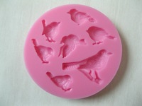 Different kinds of cute bird shape silicone mold , fondant candle molds,  chocolate moulds, silicone molds for cakes
