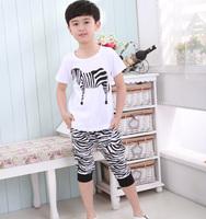 2014 summer child small child baby short-sleeve shorts set male female child summer child