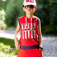 Sallei children's clothing 2014 summer sports set male child 100% cotton sleeveless casual summer thin