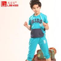 Children's clothing male child set 2014 summer child summer short-sleeve sports twinset