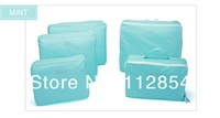 Free Shipping+Wholesale 5pcs/set New Traveling Bags in Bag Travel Organizer bag Best Travel Tote,50sets/lot