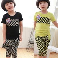 Clothing male female child short-sleeve set child summer 2014 2 3 5 - - - - 7 6