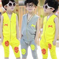 Clothing male child vest set summer 2014 big boy baby sports summer boy z boys