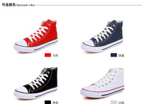 2014 New Arrival women tall style canvas shoes sneaker sneaker laces six colors EU35 - 44 retail / wholesale free shipping