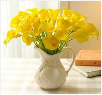 10 PCS/ Lot PU Calla Beautiful Artificial Calla Buds Plastic Flowers for Home Decoration,Party and Wedding 3 Colors