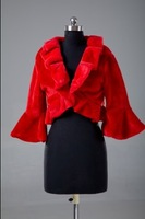 S19 2014 New Fashion Red Fur  Wedding dress Bridal Wrap