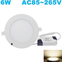 Free Shipping! 2835 smd 6W,led panel lighting AC85-265V ,aluminum ceiling light,White 4000-4500k 100pcs/lot,Newest!