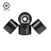 Daste skateboard professional long board wheel 70 50mm gold black round wheel