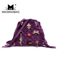 Cat bag 2014 women's handbag vintage hangings casual backpack mg03-00002 tassel shoulder bag