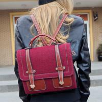 Cat bag limited edition preppy style vintage women's backpack handbag shoulder bag m05-108