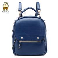 2014 spring PU backpack female preppy style school bag female