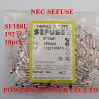 10PCS  SF188E 192C 192degree metal sefuse  thermal cutoffs Microtemp Thermal Fuse 10A250V Free Shipping