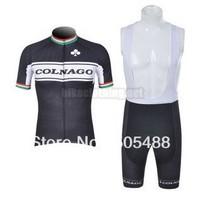 Free shipping+pad COOMAX+black-white COLNAGO Cycling Jersey+BIB SHORTS Bike Sets Clothes Cycling wear/riding bicycle apparel