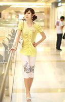 2014 hot sale,womans spring leggings,charming pattern workmanship,fashion white/black,vintage designer,ladys quality clothes