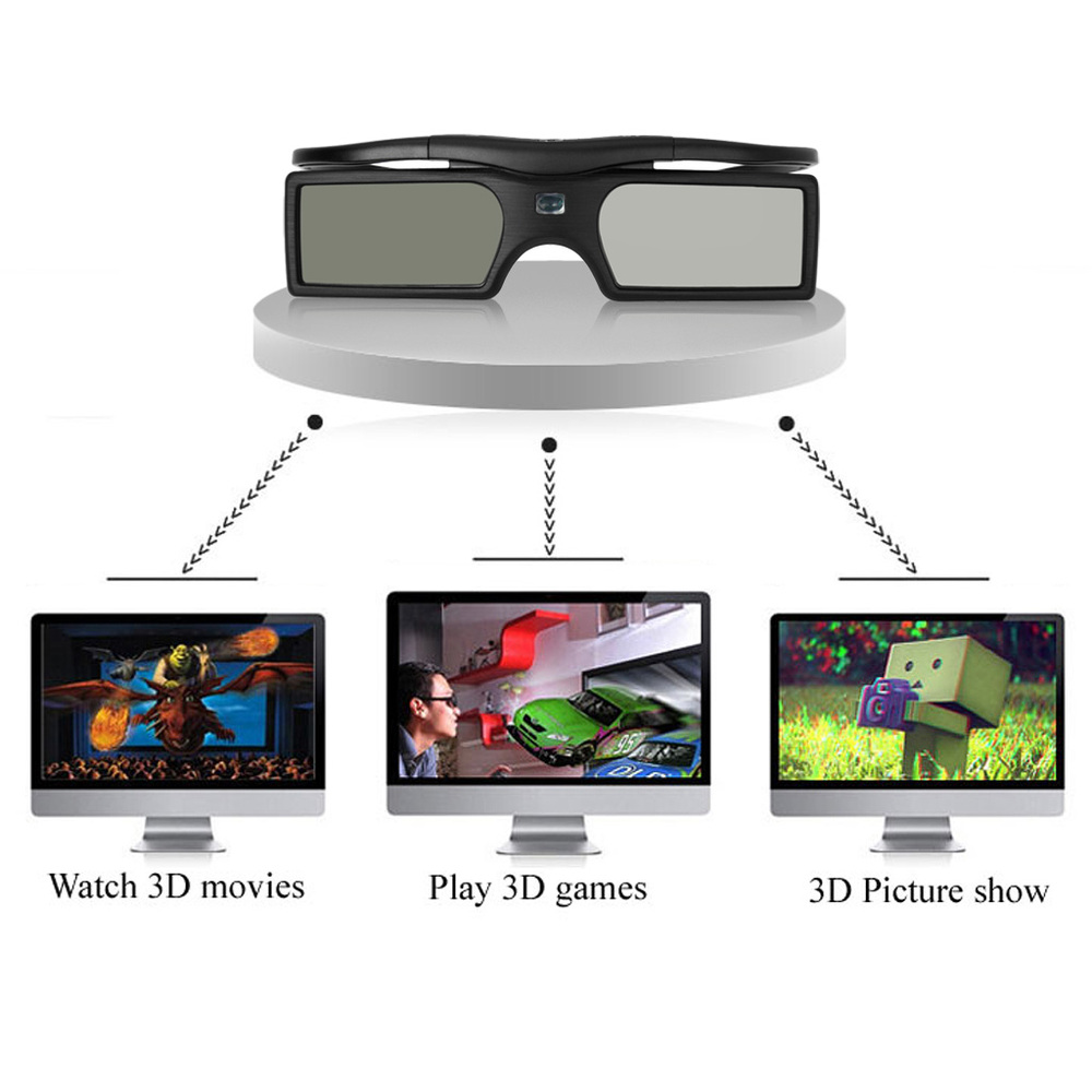 New 2014 Bluetooth 3D Active Shutter Universal Video Glasses For Samsung/Panasonic 3d TV Projector Free Shipping Wholesale(China (Mainland))